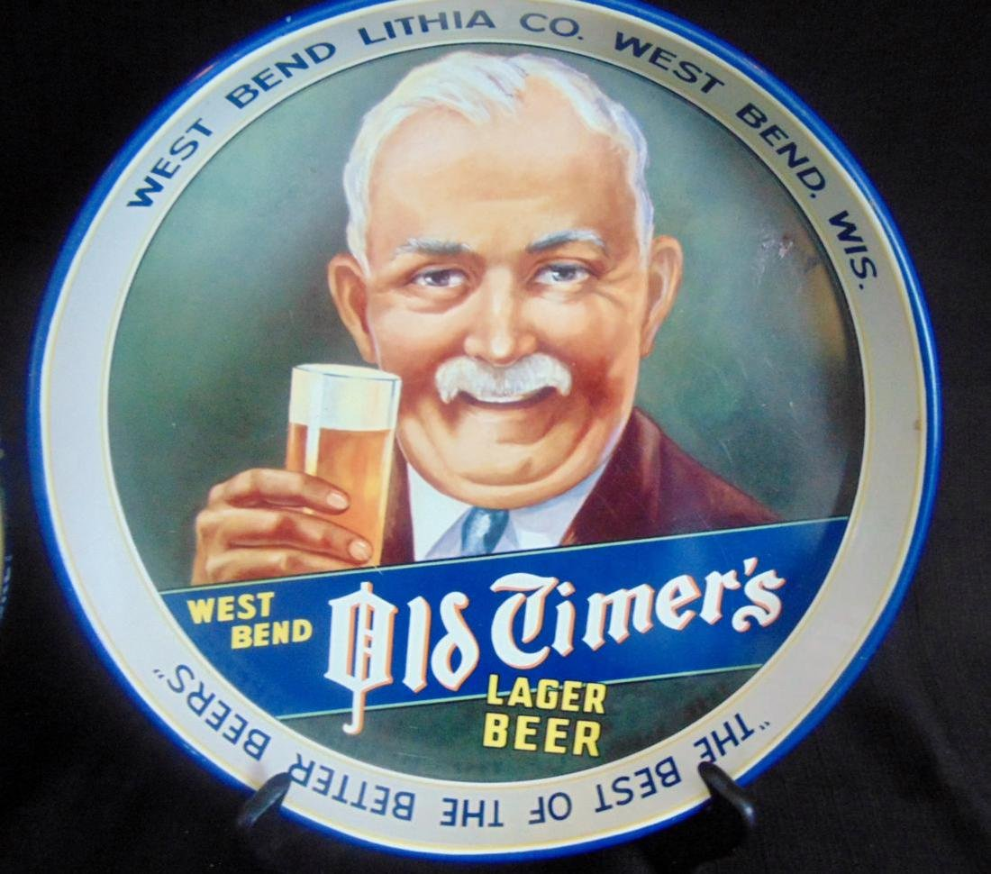 Pabst Blue Ribbon & Old Timers Beer Trays - 4