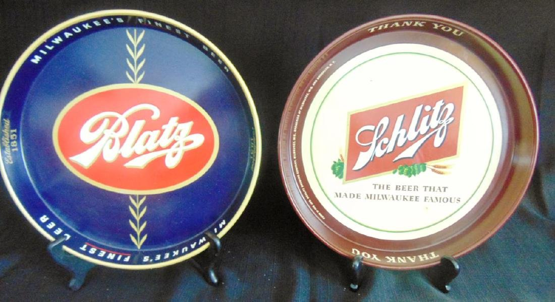 Blatz & Schlitz Beer Trays