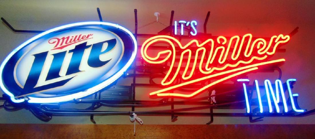 Miller Lite Beer It's Miller Time Neon Sign