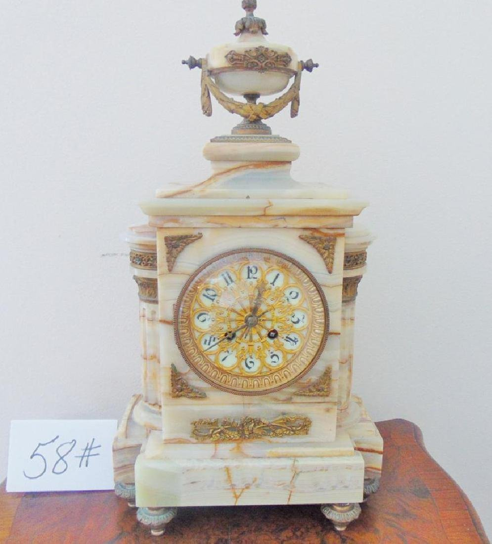 Onyx Mantle Clock French