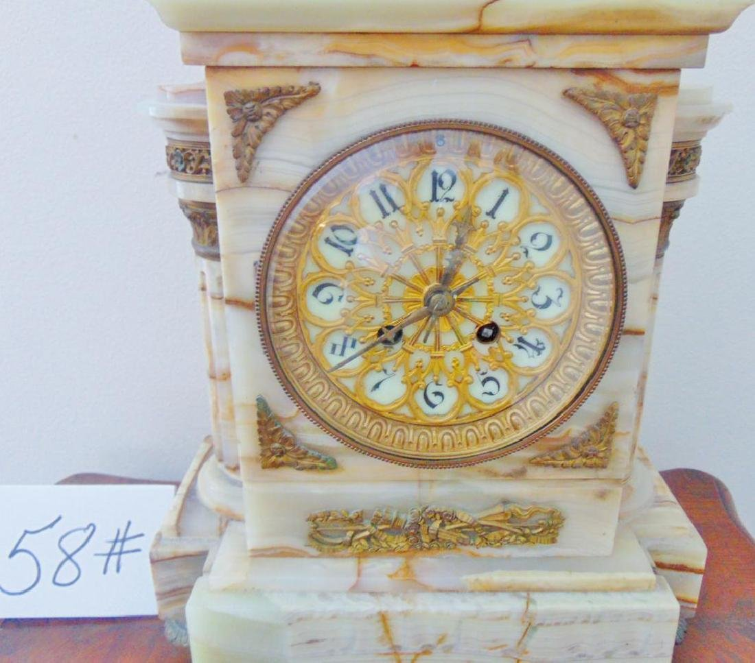 Onyx Mantle Clock French - 2