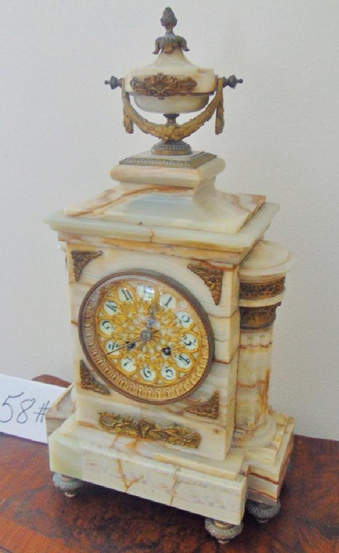 Onyx Mantle Clock French - 3