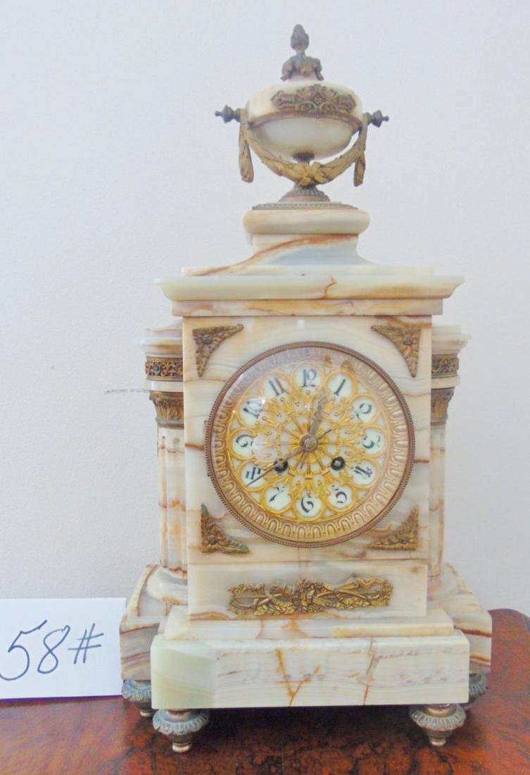 Onyx Mantle Clock French - 4