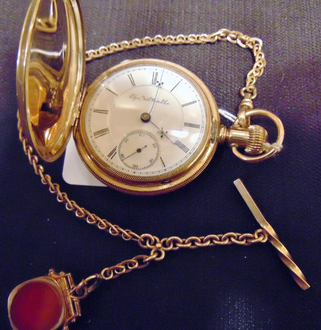 Elgin Heavy Rolled Gold Presentation Pocket Watch - 2