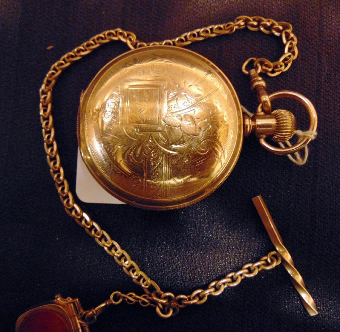 Elgin Heavy Rolled Gold Presentation Pocket Watch - 3
