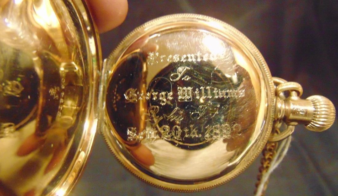 Elgin Heavy Rolled Gold Presentation Pocket Watch - 5