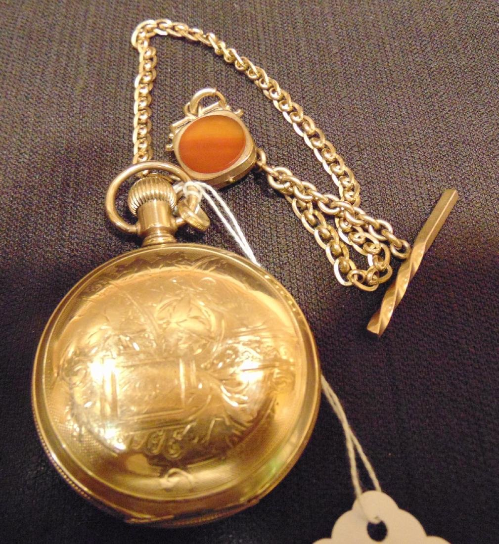 Elgin Heavy Rolled Gold Presentation Pocket Watch - 7