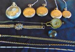 Group of Watches & Fobs