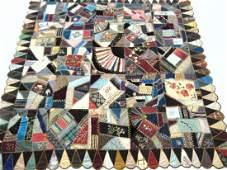 Folk Art Crazy Quilt Campaign Ribbons George Washington