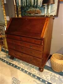 1740's American New England Mahogany Drop Front Desk