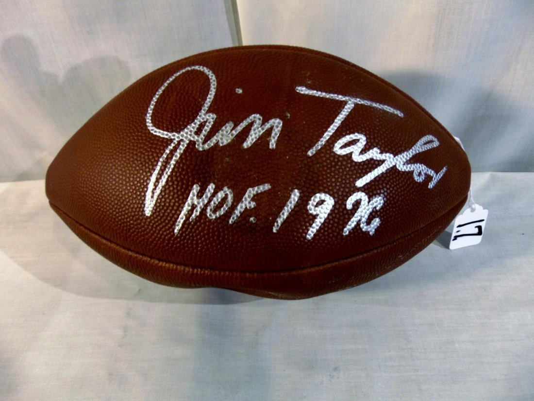 Autographed Jim Taylor Official NFL Football by Wilson.
