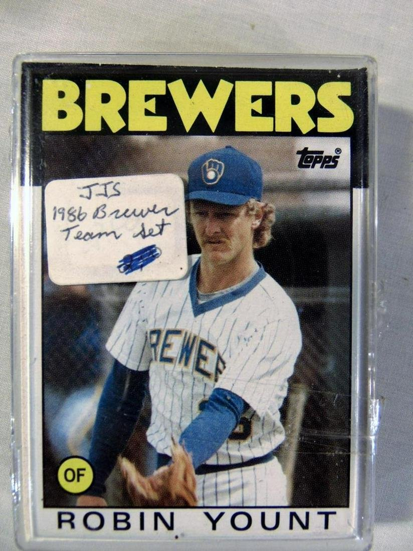 Lot of Brewers Autographed Cards and Topps 1986 Brewers