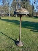 Rare Antique Natural Wicker Floor Lamp