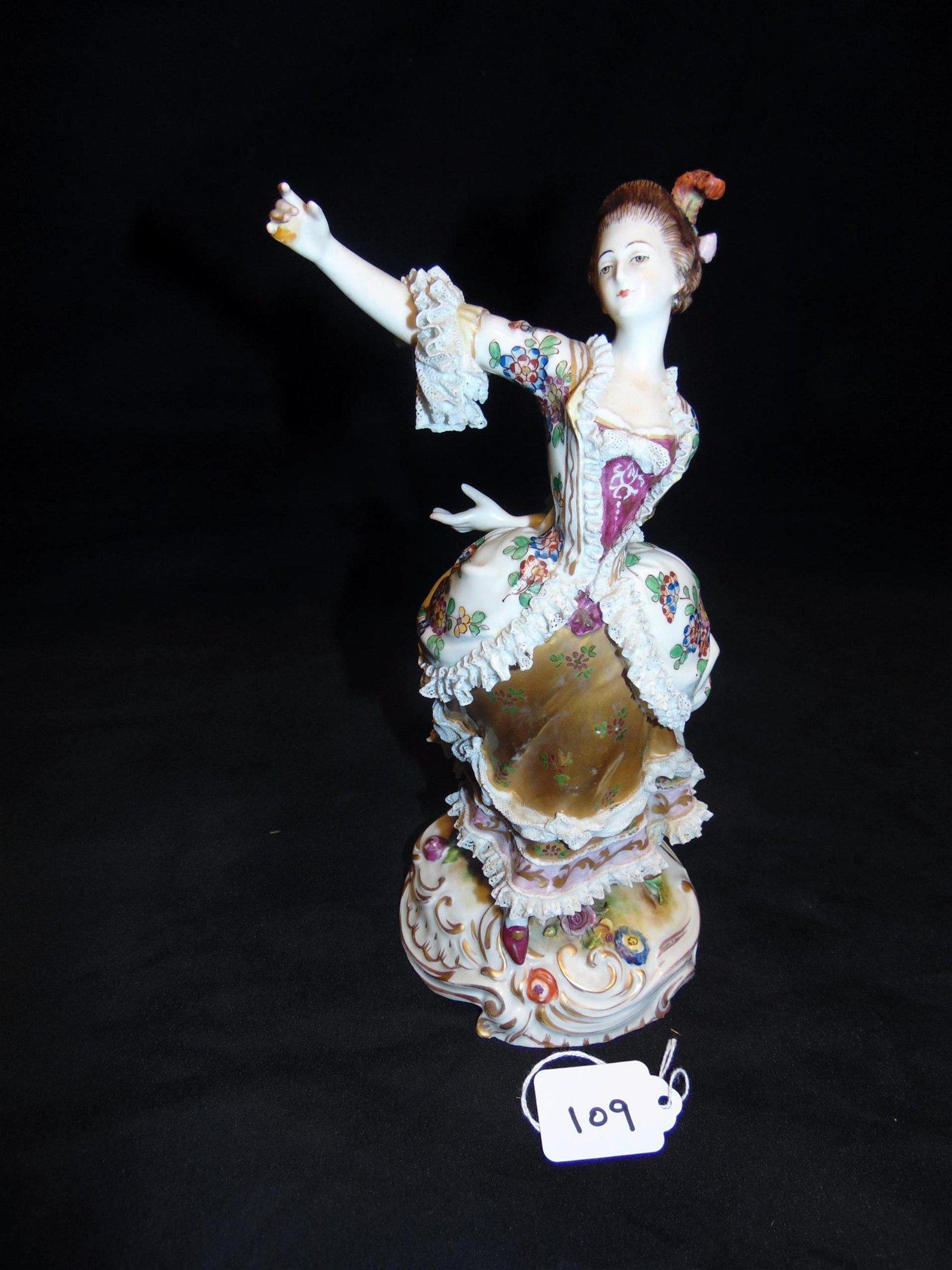 Antique Dresden Figurine