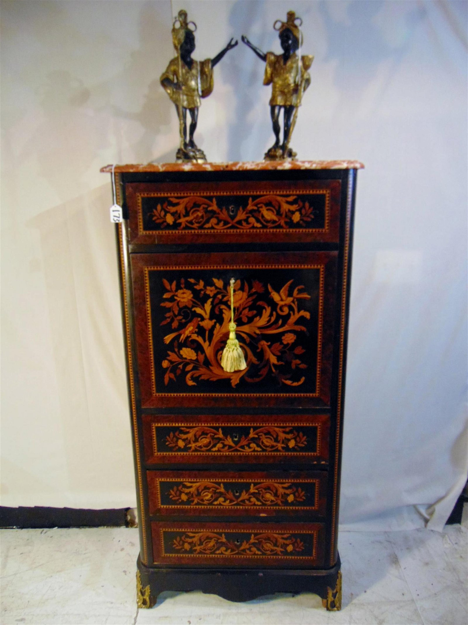 Signed Louise XVI Inlaid Dropfront Desk