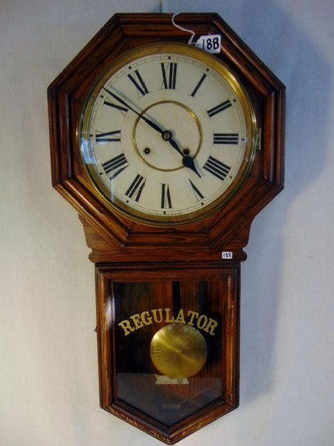 Oak Regulator Wall Clock