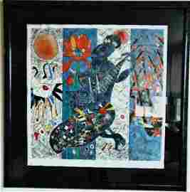 Jiang Tiefeng Signed Serigraph Pipa Melody Deluxe