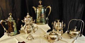 Victorian Silver Plate Group