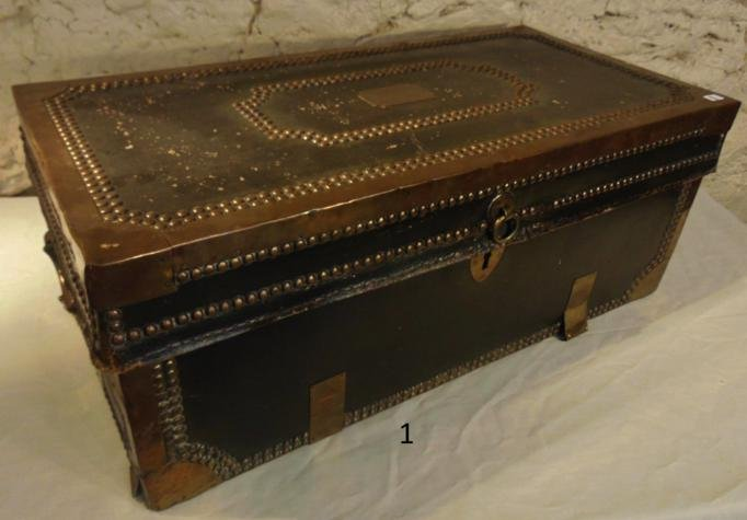 1820's Leather Bound Trunk