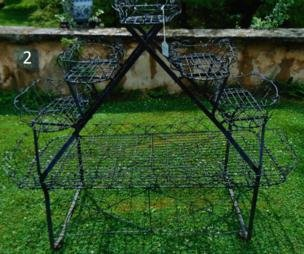 Victorian Wire Stepped Plant Stand