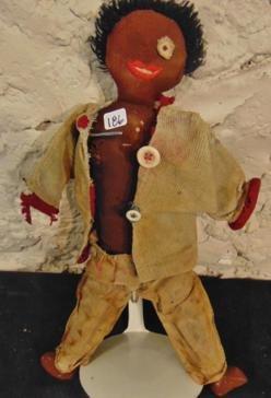 Civil War Era Cloth Black Rag Doll