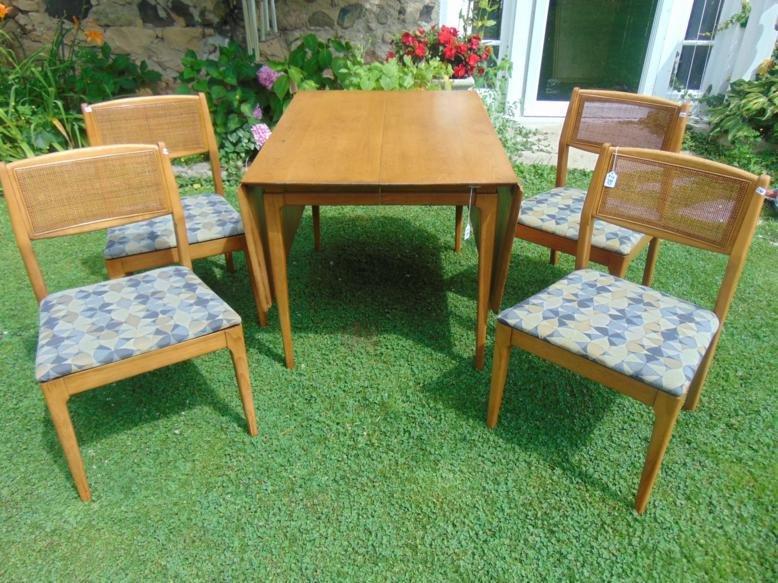 MCM Danish Modern Dining set, 4 chairs