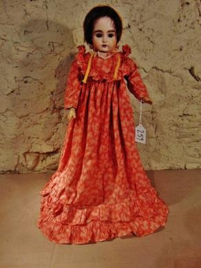 1880'sGerman Bisque Head Sleepy Eye Doll