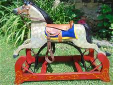 Antique Restored General Custer Hand Painted Rocking