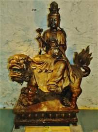 Immense Temple Bronze Chinese Buddha