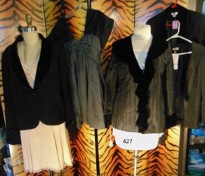 Group of 4 Gothic Contemporary Black Jackets