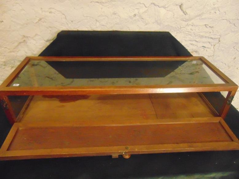 Late 19th Century Glass and Wood Display Case