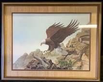 Landing Eagle wildlife print by Balke 466/1000