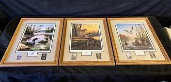 "set of 3 wildlife prints ""Summer Splendor"", ""Boundary"