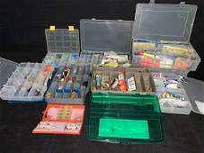 Lot of fishing accessories - bobbers, lures, hooks,