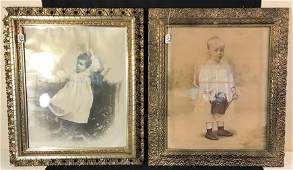Two Period Framed Victorian Photos Of Children