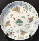 Early Oriental Porcelain Butterfly Plate