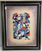 Anatole Krasnyansky Cubist Print On Canvas