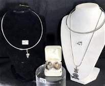 Group of NewOld Sterling Silver Jewelry