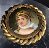 1860s French HandPainted Miniature Portrait