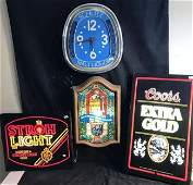 Group of Breweriana to include Schlitz Clock, and 3