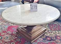 MCM Travertine Topped Coffee Table by Weimann