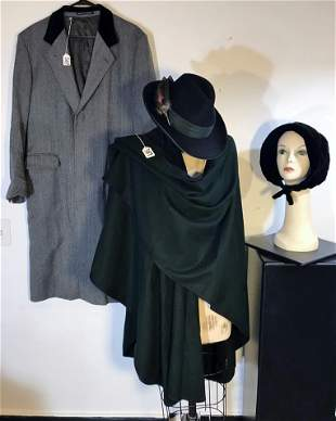 Group of Vintage to include Burberry Coat, Merino Wool