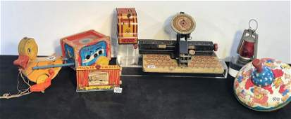 Group of Antique Children's Tin Litho Toys and More!
