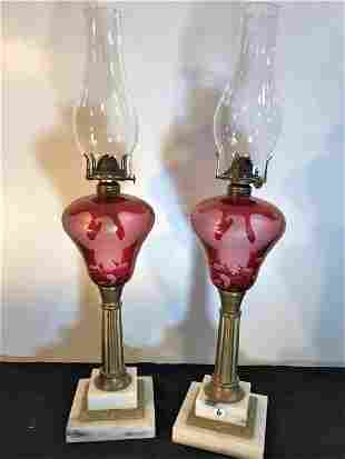 Pair of Scovill Cut Back Cranberry American Eagle Oil