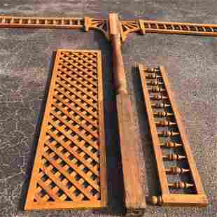 Group of Quartersawn Oak Victorian Fretwork from a
