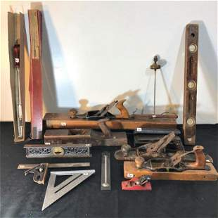Group of Antique and Vintage tools to include lathes,