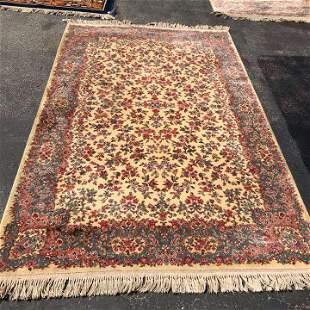 Large Wool Oriental Floral Rug