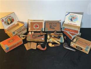 Group of Pipes, Vintage Cigar Boxes, and More!