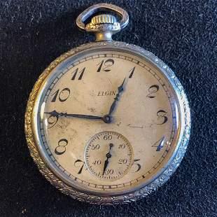 14 Karat Gold Mens Elgin Pocket Watch