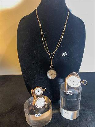 Group of 4 Ladies Pocket watches to include Elgin,